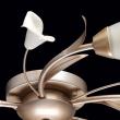 Deckenleuchte, Gold+ Silberfarbe/Metall Glas Lampenschirm 5*60W E14, 242016205