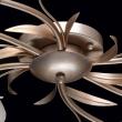Deckenleuchte, Gold+ Silberfarbe/Metall Glas Lampenschirm 6*60W E14, 242016306
