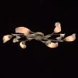 Hängeleuchte, Crem-Ed+Green+Gold/Metall/Glas 6*60W E14, 242016906