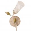 Wandleuchte, Cremefarbe+Gruen+Goldfarbe/Metall Glas 1*60W E14, 242025701