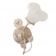Wandleuchte, Weiss + Goldfarbe / Metall Glas /Keramik 1*60W E14, 242026101