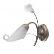 Wandleuchte, Gold+ Silberfarbe/Metall Weisse Keramik Glas Lampenschirm 1*60W E14, 242026601