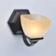 Wandleuchte, Black+Gold/Metal White And Beige/Glass 1*60W E27, 249028401