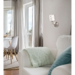 Wandleuchte, Matte Chromfarben / Metall Glas 1*60W E14, 261029601
