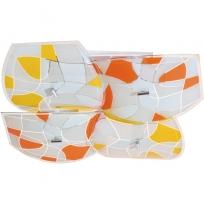 Deckenleuchte, Chromfarben / Metall Glas 8*60W E27, 262014004