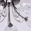 Deckenleuchte, Nickelfarbig / Metall Glas /Kristall 5*60W E14, 267013505