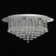 Deckenleuchte, Brushed Silver/Metal Transparentl/Crystal 9*40W E14, 276014409