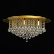Deckenleuchte, Brushed Gold/Metal Transparentl/Crystal 9*40W E14, 276014509
