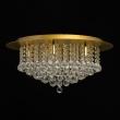 Deckenleuchte, Brushed Gold/Metal Transparentl/Crystal 9*40W E14, 276014509