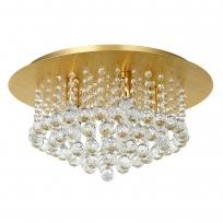 Deckenleuchte, Brushed Gold/Metal Transparentl/Crystal 5*40W E14, 276014705