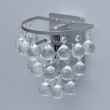 Wandleuchte, Brushed Silver/Metal Transparentl/Crystal 1*40W E14, 276024801