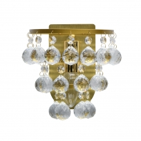 Wandleuchte, Brushed Gold/Metal Transparentl/Crystal 1*40W E14, 276024901