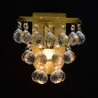 Wandleuchte, Brushed Gold/Metal Transparentl/Crystal 1*40W E14, 276024901