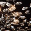 Deckenleuchte, Kaffee + Nickelfarbig / Metall Geraeuchertes Kristall / Kristal 8*60W E14, 280011008