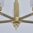 Deckenleuchte, Brass/Metal Transparent/Glass 5*40W E14, 285011605