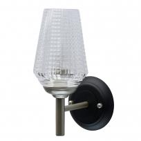 Wandleuchte, Perl Silver+Black/Metal Transparent/Glass 1*40W E14, 285021201
