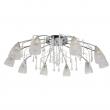 Deckenleuchte, Chrome/Metal Transparent/Crystal Transparent/Glass 10*40W E14  , 294015810