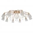 Deckenleuchte, Brass/Metal Transparent/Crystal Transparent/Glass 10*40W E14  , 294015910