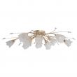 Deckenleuchte, Pear Gold/Metal Transparent/Crystal Transparent+White/Glass 13*40W E14  , 294016213