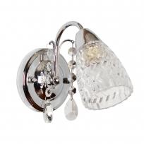 Wandleuchte, Chrome/Metal Transparent/Crystal Transparent/Glass 1*40W E14  , 294026001