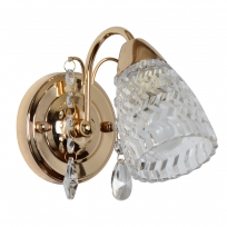 Wandleuchte, Brass/Metal Transparent/Crystal Transparent/Glass 1*40W E14  , 294026101