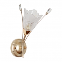 Wandleuchte, Pear Gold/Metal Transparent/Crystal Transparent+White/Glass 1*40W E14  , 294026301