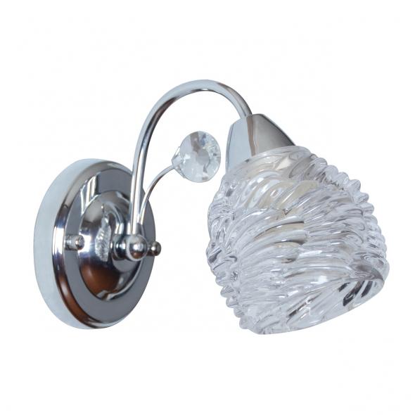 Wandleuchte, Chrome/Metal Transparent/Glass 1*40W E14, 294026801