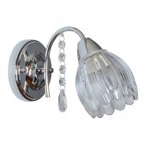 Wandleuchte, Chrome/Metal Transparent/Glass 1*40W E14, 294027001