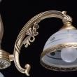 Hängeleuchte, Antike Messingfarbe/Messing / Glas 3*60W E27, 295010903