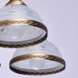 Hängeleuchte, Antike Messingfarbe/Messing / Glas 5*60W E27, 295011005