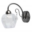 Wandleuchte, Schwarz Und Chromfarben / Metall Kristall/Glas 1*60W E14, 297023001