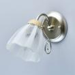 Wandleuchte, Champagne Silver+Wood/Metal Transparent+White Pattern/Glass Transparent/Crystal 1*40W E27  , 297023601