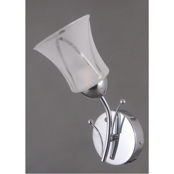 Wandleuchte, Chrome/Metal White/Glass 1*40W E14, 297023701