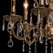 Kronleuchte, Antike Honig+ Messingfarbe / Metall Kristall 6*60W E14, 301013506