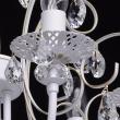 Kronleuchte, Matte Weisse Und Goldfarbe / Metall Kristall 8*60W E14, 301015308