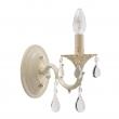 Wandleuchte, Elfenbein Und Goldfarbe / Metall Kristall 1*60W E14, 301025501