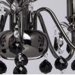 Hängeleuchte, Nickelfarbe / Metall Glas /Kristall 5*60W E14, 313010105