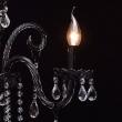 Tischleuchte, Schwarze Farbe / Metall Glas /Kristall 4*60W E14, 313033004