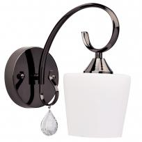 Wandleuchte, Nickelfarbig / Metall Glas /Kristall 1*60W E27, 315021401