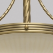 Hängeleuchte, Antike Messingfarbe / Metall Glas 3*60W E14, 317010303