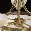 Kronleuchte, Antike Messingfarbe / Metall Glas 5*60W E27Und3*60W E14, 317010708