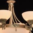 Kronleuchte, Antike Messingfarbe / Metall Glas 6*60W E27Und3*60W E14, 317010809