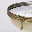Deckenleuchte, Antike Messingfarbe / Metall Glas 3*60W E27, 317011303