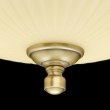 Deckenleuchte, Antike Messingfarbe / Metall Glas 3*60W E14, 317011403