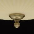 Deckenleuchte, Antike Messingfarbe / Metall Glas 4*60W E14, 317011504