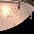 Deckenleuchte, Matte Messingfarbe / Metall Glas 5*60W E14, 317012905