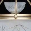 Deckenleuchte, Messingfarbe / Metall Glas 8*60W E27, 317013308