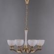 Hängeleuchte, Brass/Metal+Aluminum White/Glass 8*40W E27, 317014808