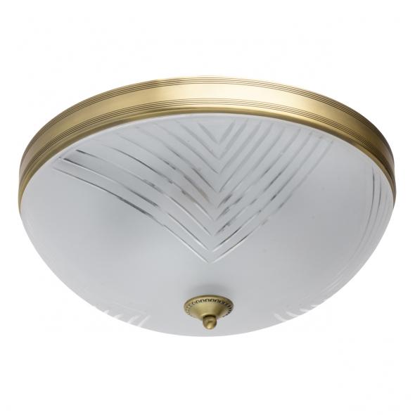 Deckenleuchte, Brass/Metal+Aluminum White/Glass 4*40W E27, 317015004