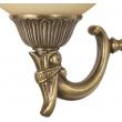 Wandleuchte, Antike Messingfarbe / Metall Glas 1*60W E27, 317020101